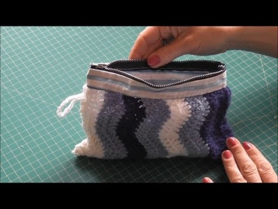 Sewing a makeup bag with zipper, DIY Mother's Day present.gift