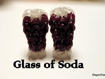 Soda.Drink.Water Glass Charm - How to Rainbow Loom - Food Series