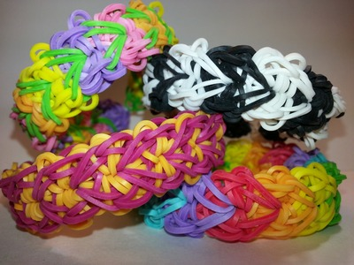 Stacked Flowers Bracelet Tutorial by feelinspiffy (Rainbow Loom)