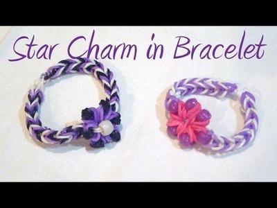 Star.Flower Charm Weaved in Loom Band Bracelet