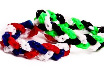 True Mini Braid Tutorial - Alpha Loom - Rainbow Loom Mini Bands
