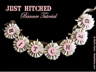 TUTORIAL - How to make a Just Married banner.wmv