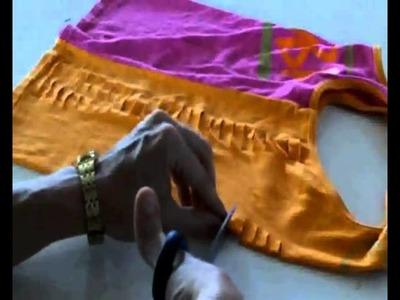Zumbawear Cutting: Pink & Orange Weave Tank Video.wmv