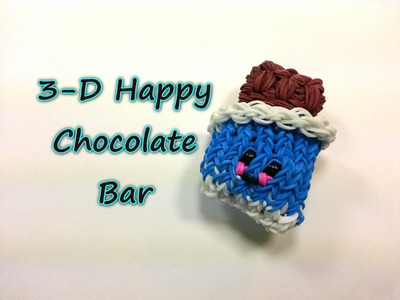 3-D Happy Chocolate Bar Tutorial by feelinspiffy (Rainbow Loom)