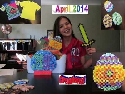 April 2014 Perler Bead Creations