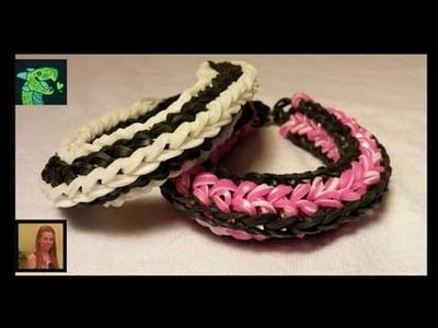 Candyland Bracelet made on the Rainbow Loom- By Cheryl Mayberry AKA Willowcreat