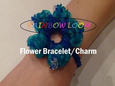 (CLOSED) Rainbow Loom: How to Make A Flower Charm.Bracelet (Advanced Level)