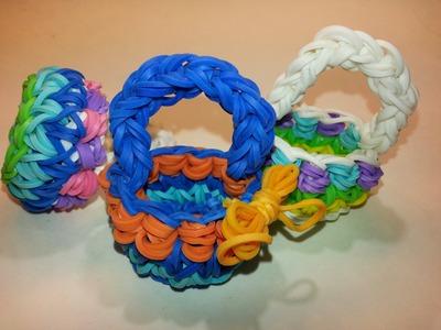 Decorative Basket Tutorial by feelinspiffy (Rainbow Loom)