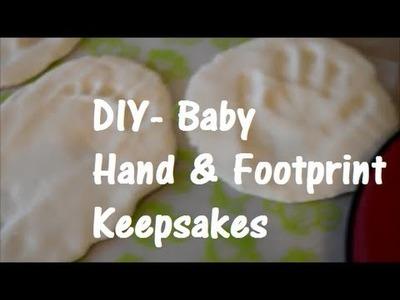 DIY Baby Print Keepsakes - 3 Ingredients & So Easy!!!