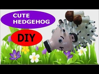 DIY Crafts: Cute Hedgehog out of Plastic Bottle