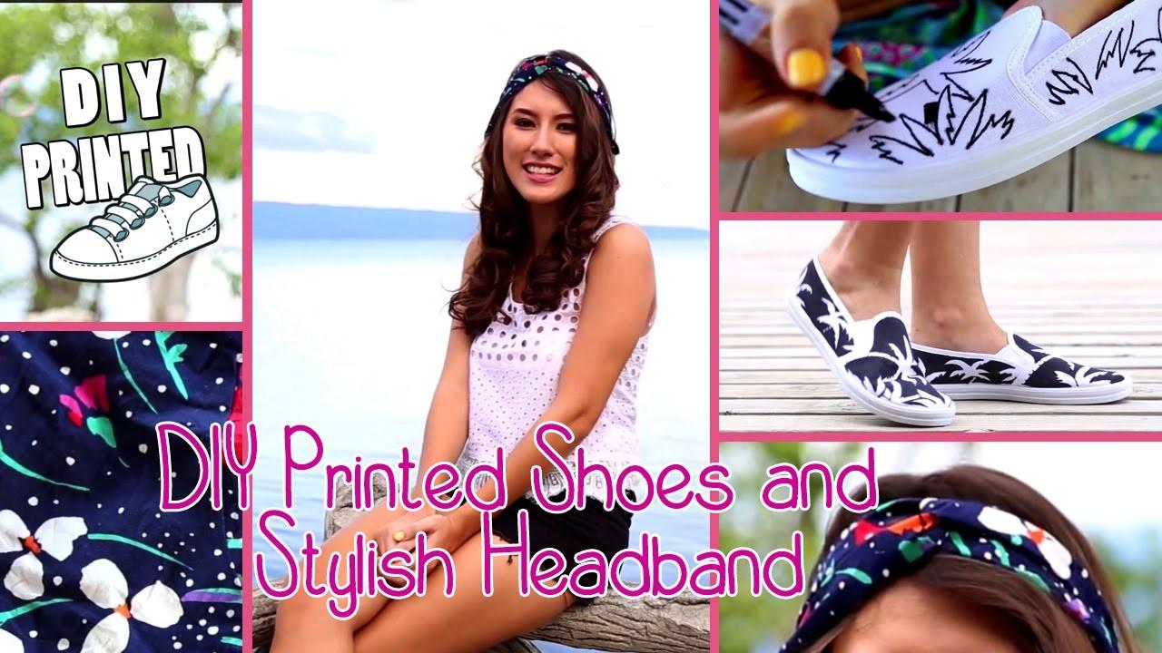 DIY Printed Shoes and Stylish Headband