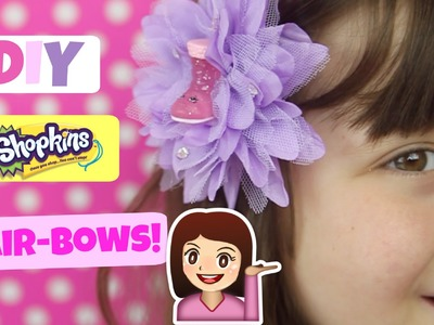 DIY SHOPKINS HAIR BOWS!  Super cute, super girly hair bows with Ultra Rare Cute Boot Shopkin Season2
