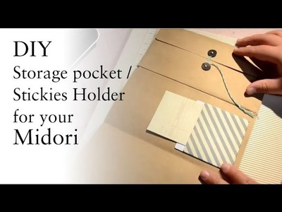 DIY Storage Pocket. Stickies Carrier For Your Midori