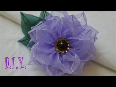 ❀ D.I.Y. Wired Organza Flower - Tutorial ❀
