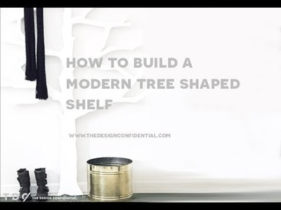 How To Build a DIY Modern Tree Shaped Wood Bookshelf from The Design Confidential