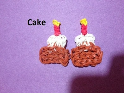 How to Make a Cake Charm on the Rainbow Loom - Original Design