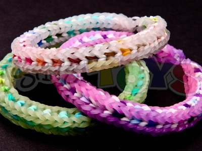 How to Make a Rainbow Loom Four Pin Framed Fishtail Bracelet - 3F FFF