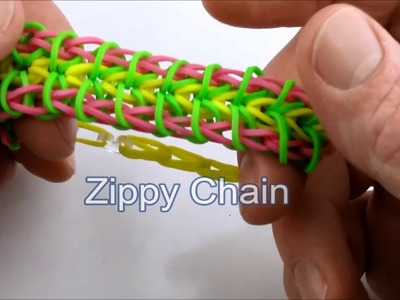 How to make the Zippy Chain bracelet on the Rainbow Loom