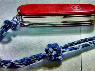 How to Tie. Make a Paracord Lanyard Knot
