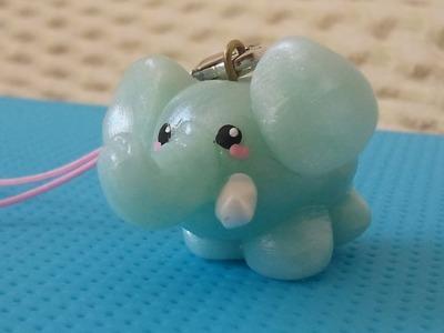 ★ Kawaii Elephant Charm (Polymer Clay Tutorial) ★