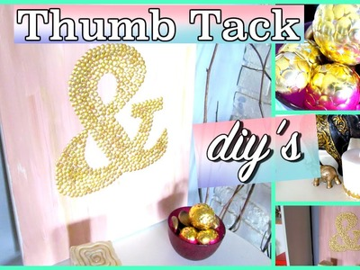 MUST TRY DOLLAR TREE DIY | THUMB TACK EMBELLISHED DIY'S | Sensational Finds