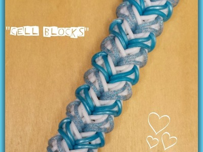 "My New ""Cell Blocks"" Rainbow Loom Bracelet. How To Tutorial"