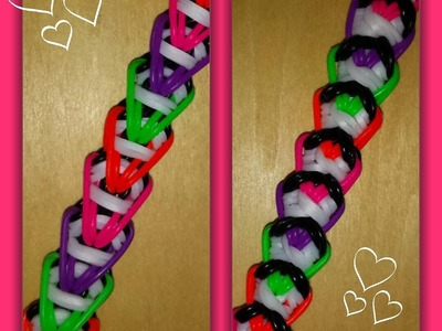 "My New ""Heart Wrap"" Rainbow Loom Bracelet.How To Tutorial"