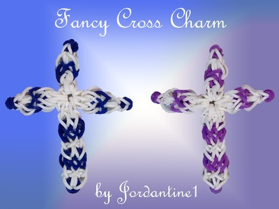 New Fancy Cross Charm - Monster Tail or Rainbow Loom - Christmas Easter