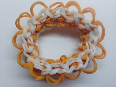 *NEW!* How to Make a Rainbow Loom Floral Crown Bracelet! (Requres 2 Looms)
