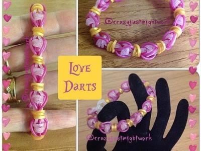 "New ""Love Darts"" Ranbow Loom Bracelet.How To Tutorial"