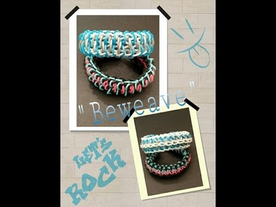 "New Reversible ""Beweave"" Rainbow Loom Bracelet.How To Tutorial"