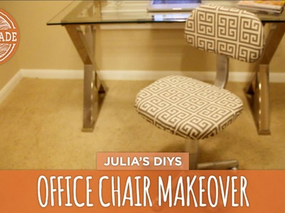 No-Sew Office Chair Makeover - HGTV Handmade