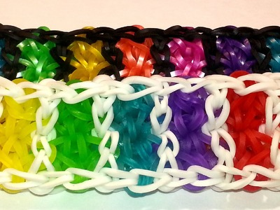 ONE LOOM Boardwalk Bracelet Tutorial by feelinspiffy (Rainbow Loom)