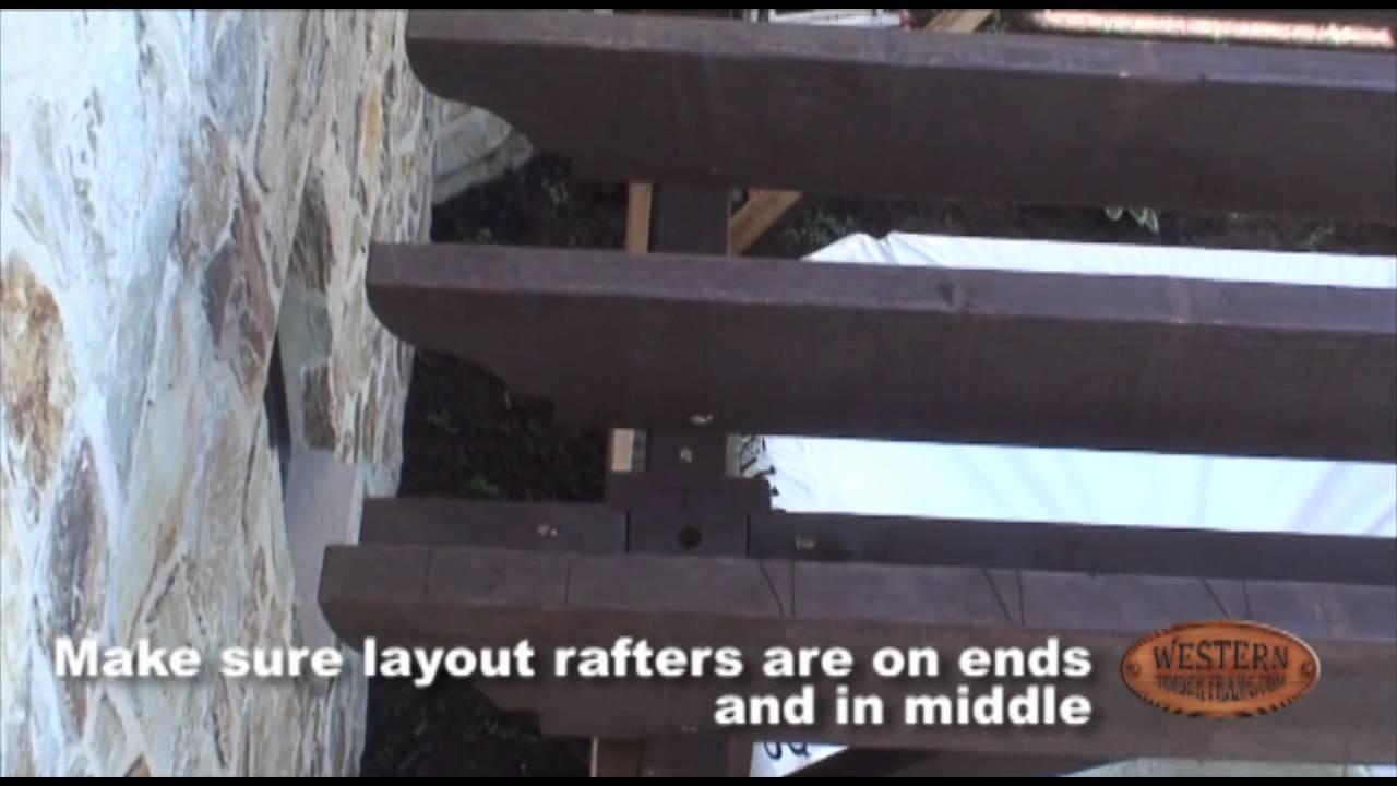 Pergola - DIY - 9 of 12 | Setting Roof Rafters & Shade Planks - Timber Pergola Kit Installation