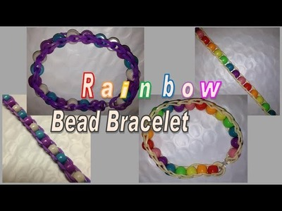 Rainbow Bead and Loom Band Bracelet make without the Rainbow Loom
