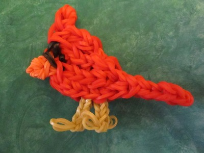 Rainbow Loom Bird Charm: Cardinal