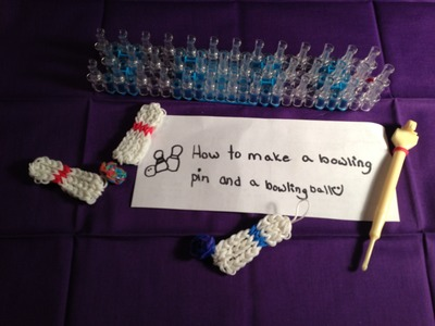 Rainbow Loom How to Make a Bowling Ball and bowling Pins NEW DESIGN