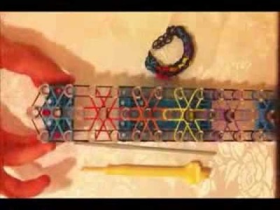 Rainbow loom: make a long starburst bracelet using one loom
