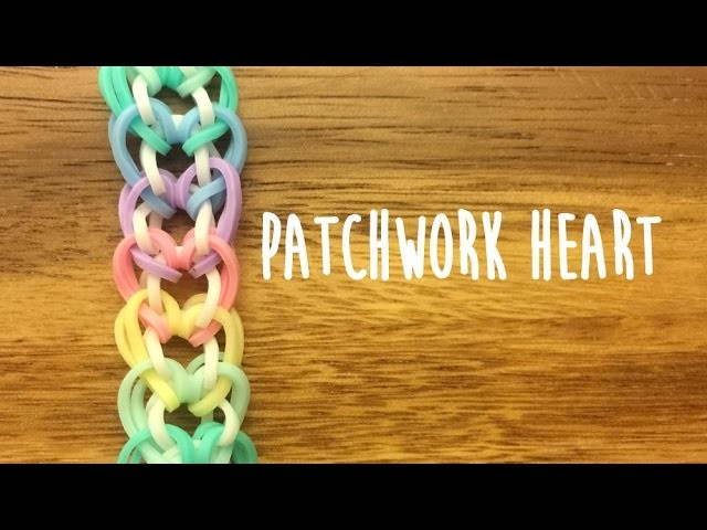 Rainbow Loom Patchwork Heart Tutorial 2 Pegs No Hook