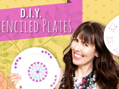 D.I.Y. Stenciled Plates
