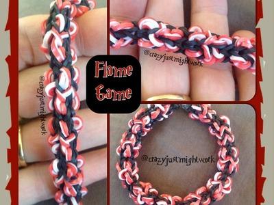 Flame Game Rainbow Loom Bracelet Tutorial (Loom.Monster Tail)