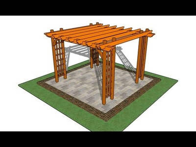 How to build a pergola on a patio