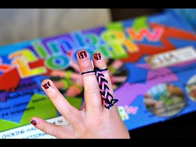 How to make a rainbow loom fishtail bracelet with no loom (just use your fingers)
