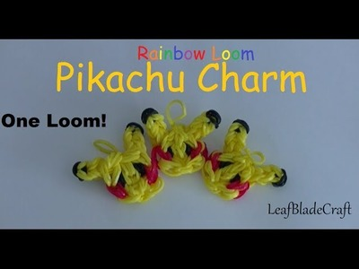 How To Rainbow Loom Pikachu Charm DIY Pokemon Charm_ONE LOOM_