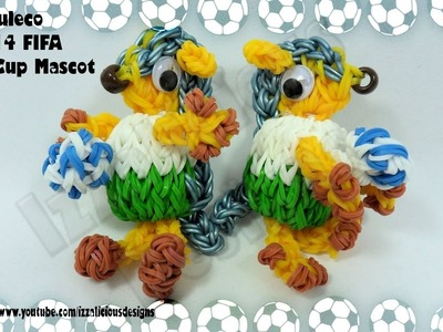 Rainbow Loom 3D Fuleco 2014 FIFA World Cup Mascot Action Figure.Charm - Gomitas