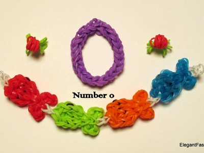 Rainbow Loom Number 0 charm - How to