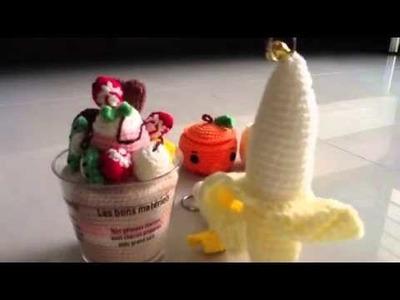 Amigurumi fruits and ice cream