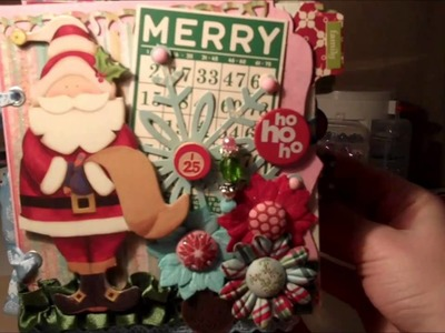 Christmas Chipboard Mini Book (Part 1) made with October Afternoon Paper Collections