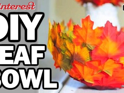 DIY Autumn Leaf Bowl - Man Vs. Pin #39