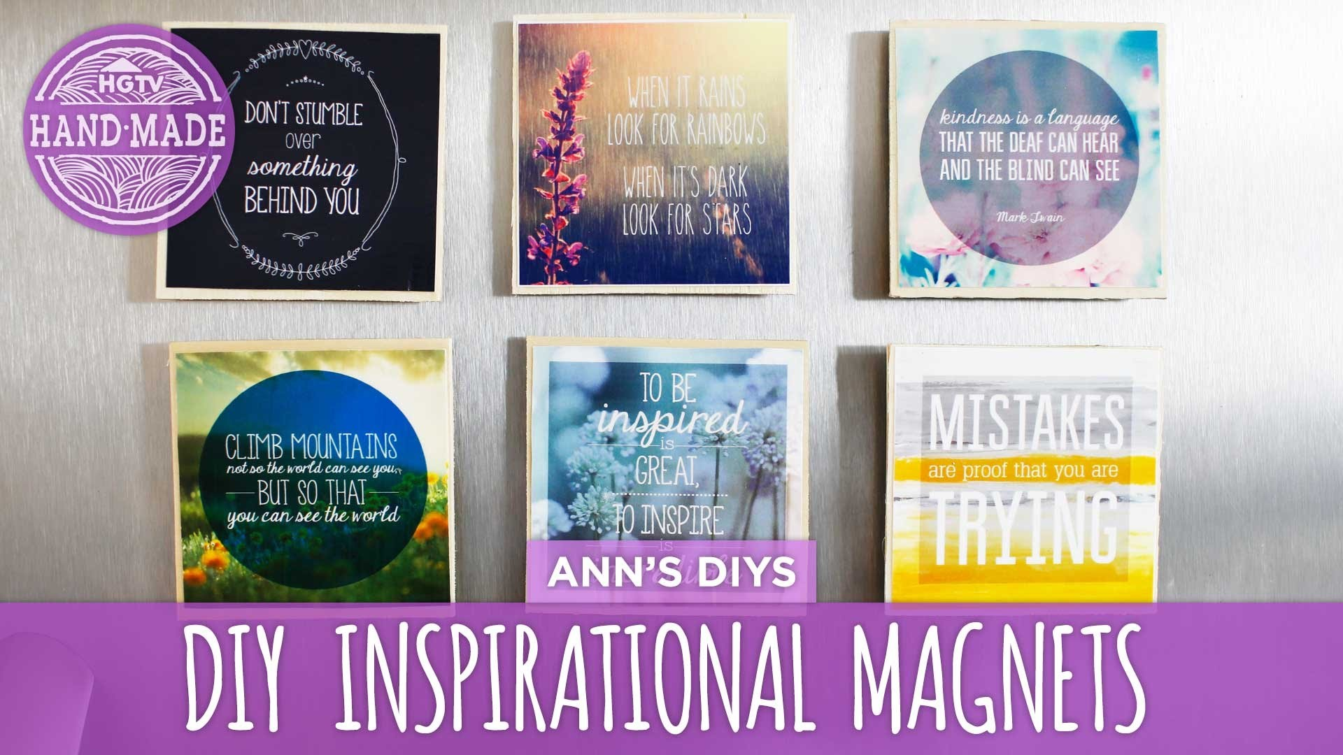 DIY Inspirational Magnets - HGTV Handmade
